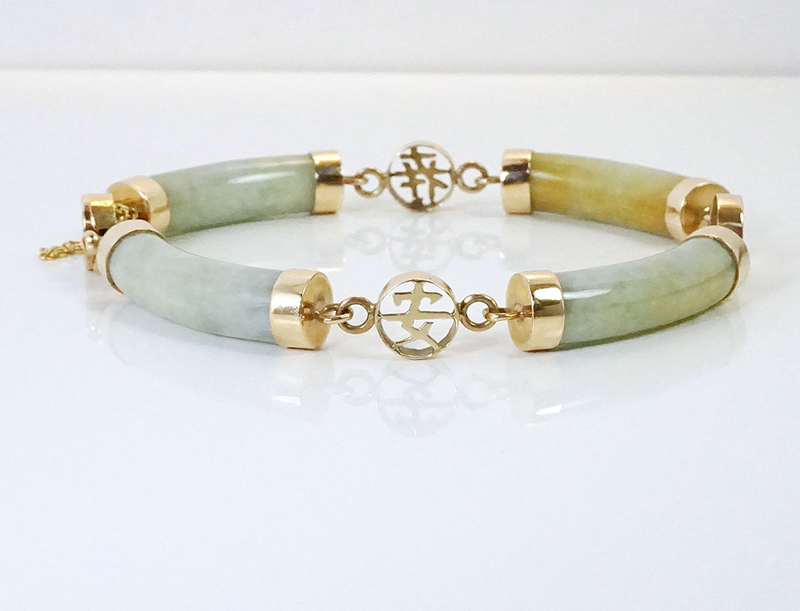 Jade sectional bracelet