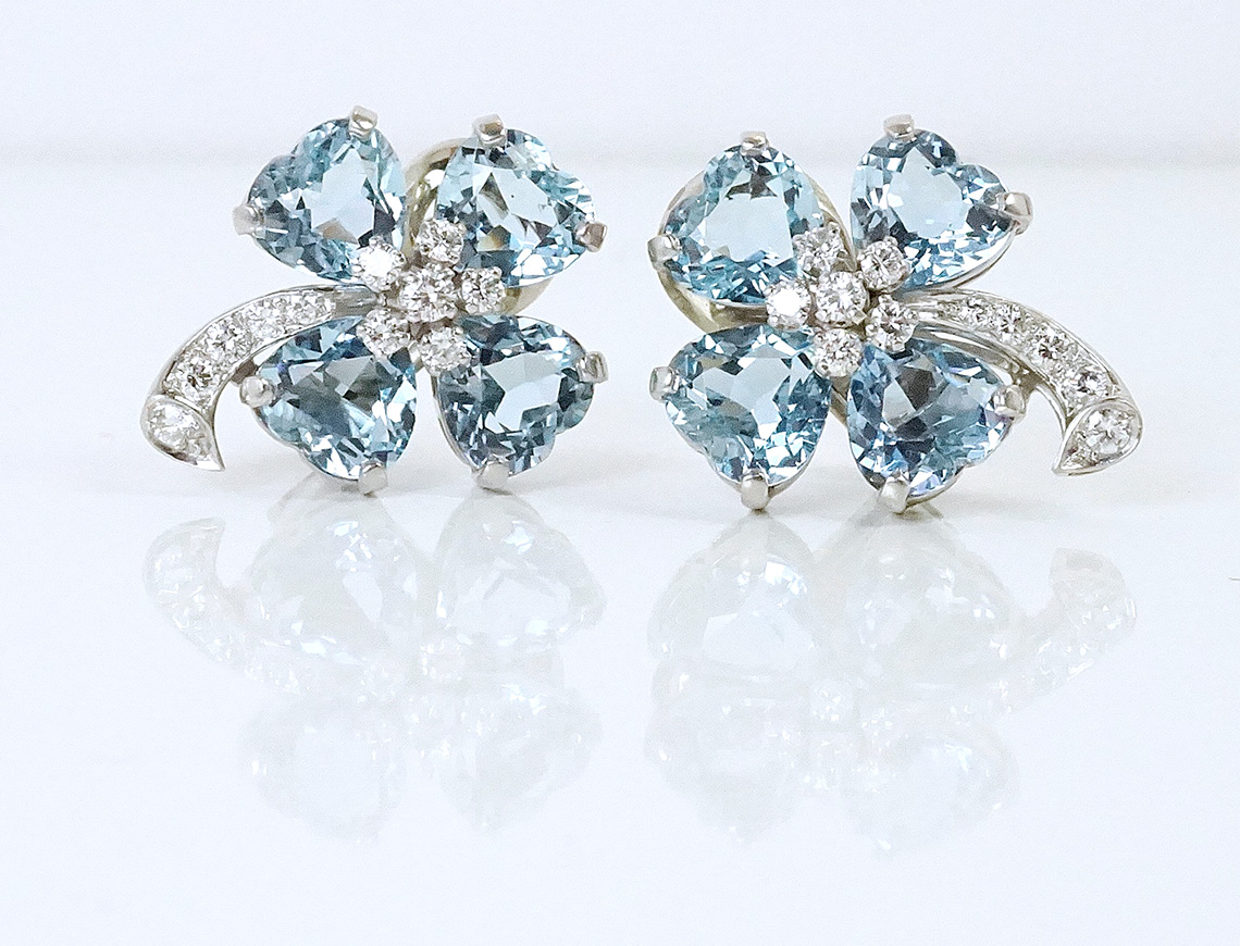 Magnificent aquamarine earrings