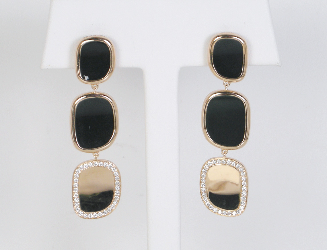 """Black Jade"" earrings by Roberto Coin"