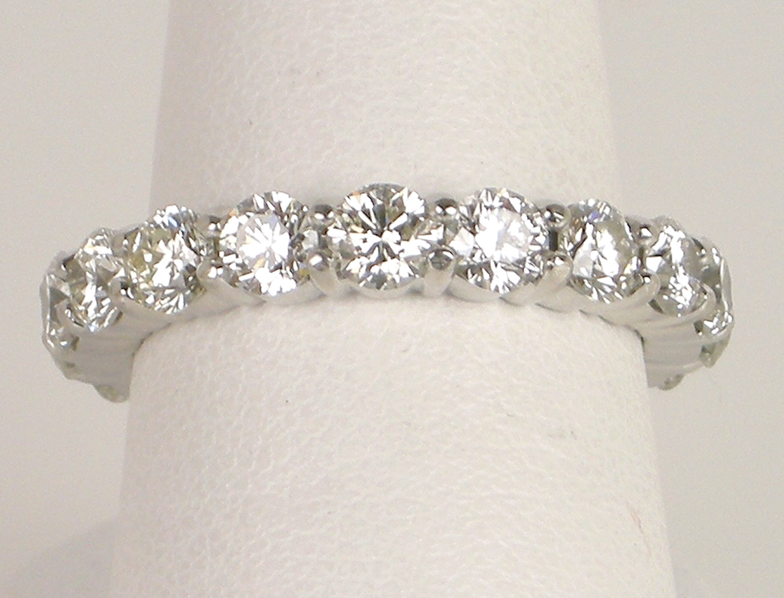 Ideal cut diamond eternity ring