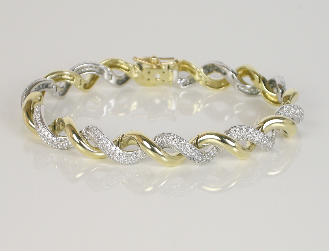 Diamond twist bracelet by Fana