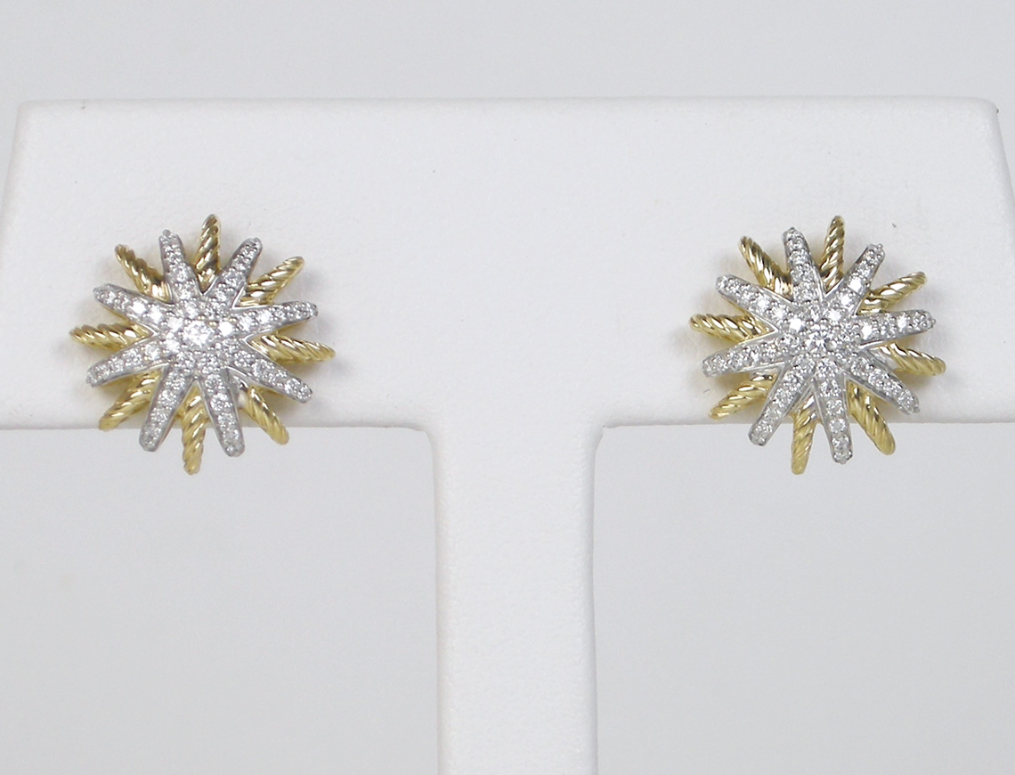 """Starburst"" earrings by David Yurman"