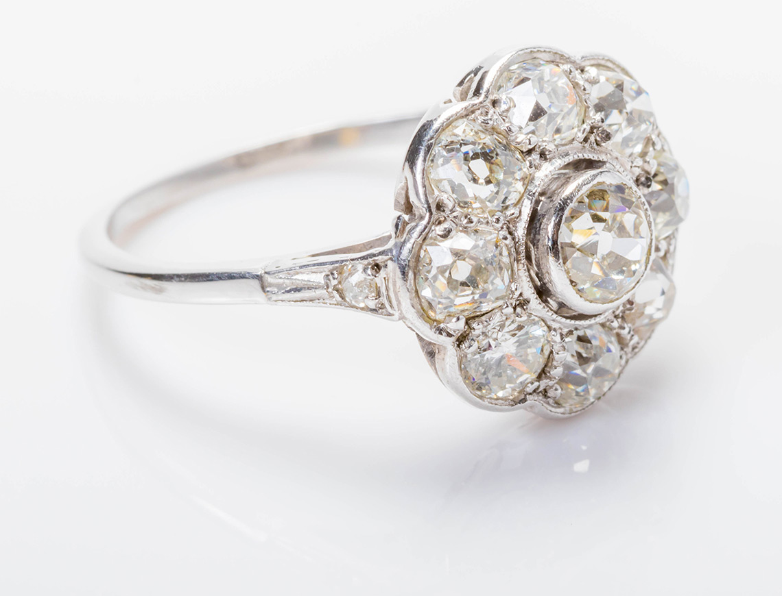 Belle-epoque diamond ring