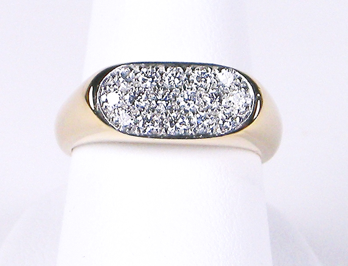 Pave diamond ring by Oscar Heyman