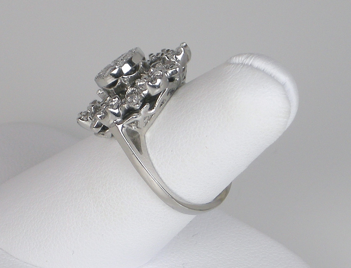"""Snowflake"" diamond ring"