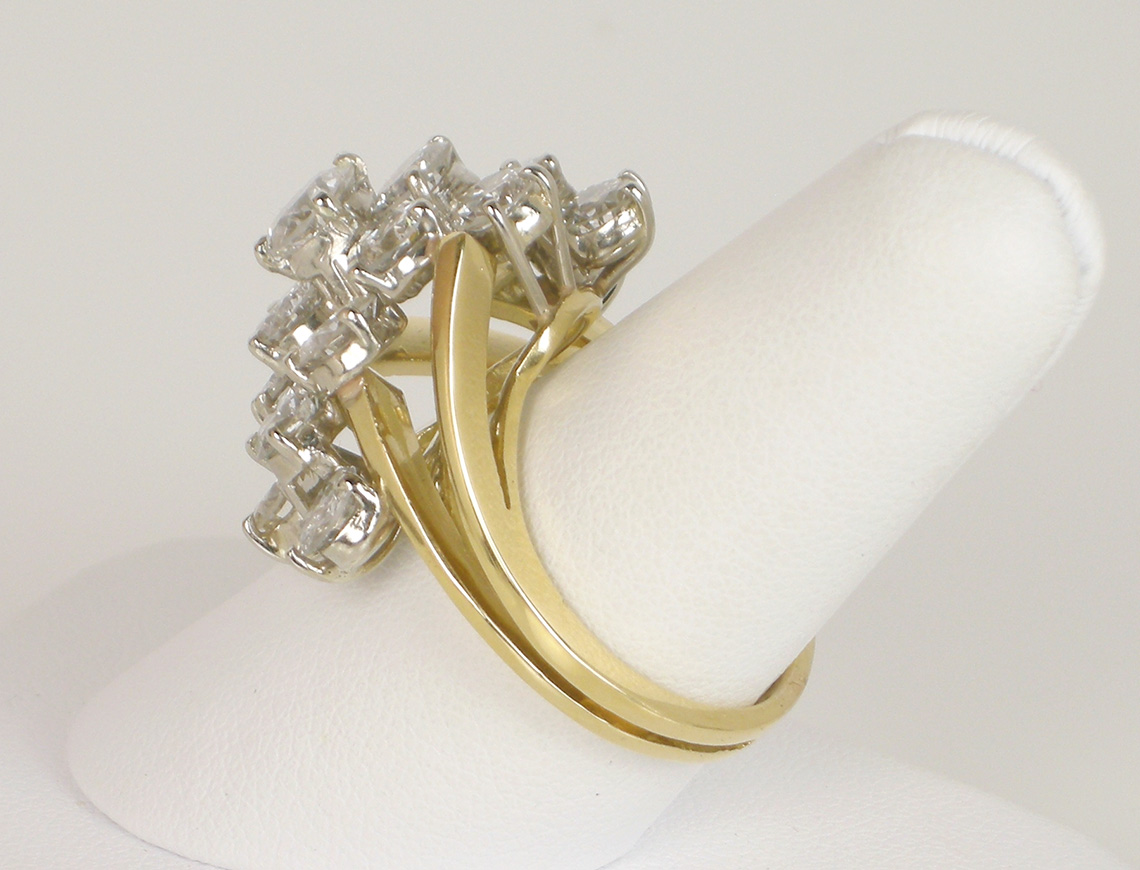 "Waterfall"" diamond ring"
