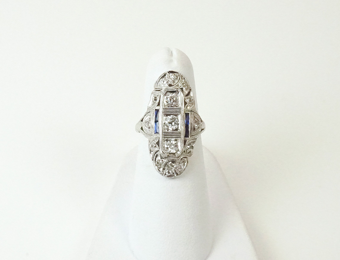 Platinum Art Deco ring