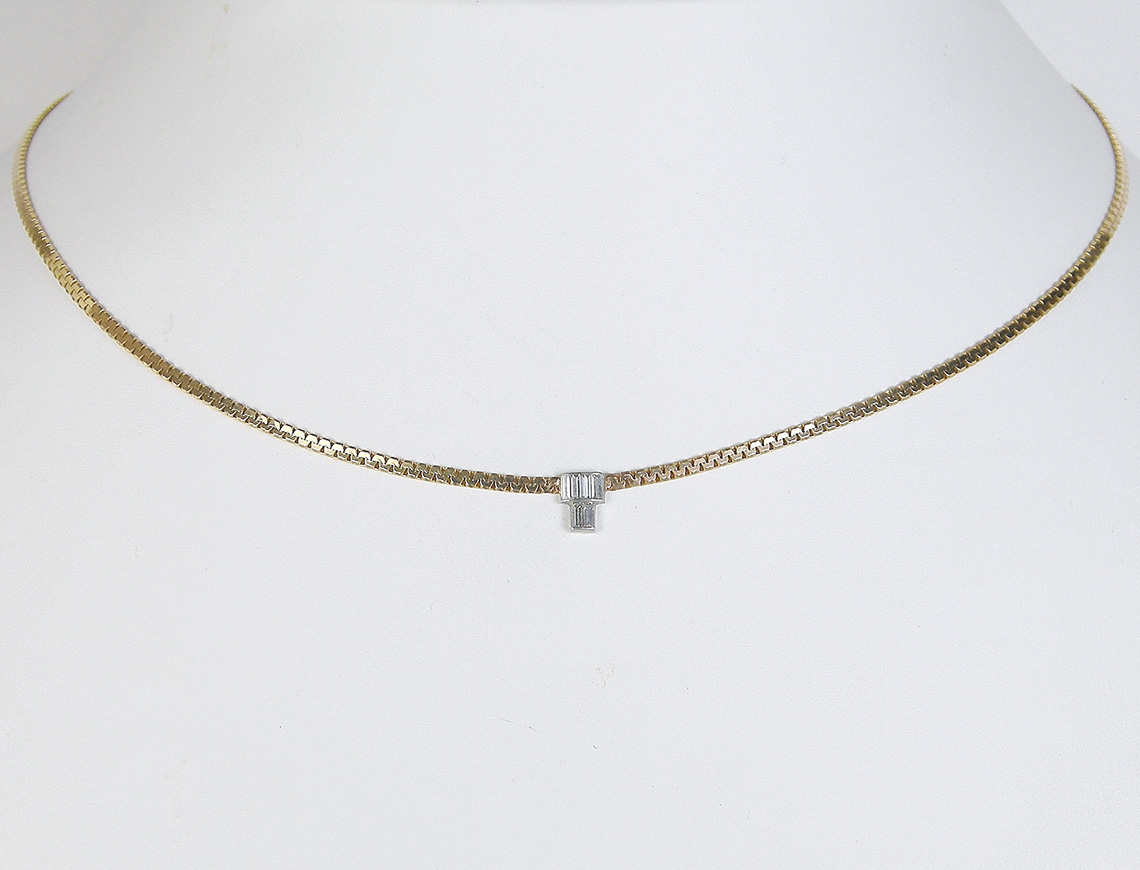 Custom-made diamond choker