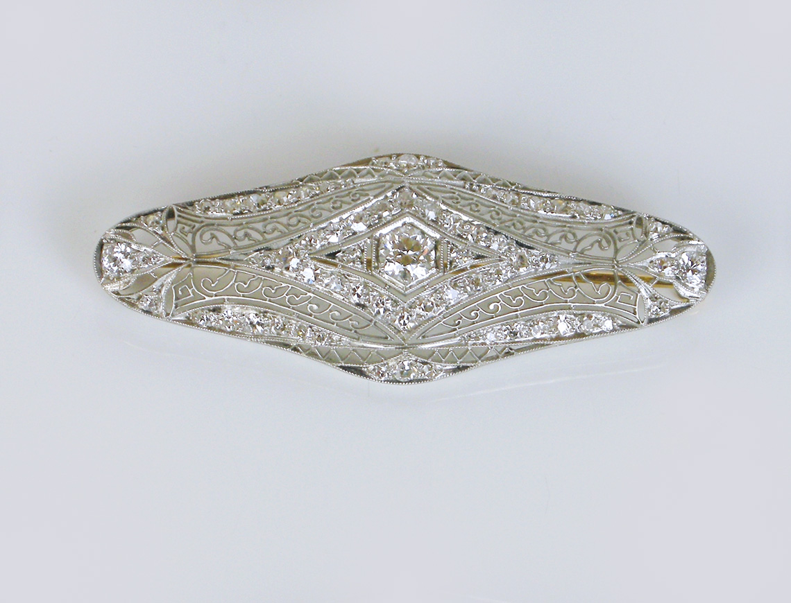 Edwardian platinum brooch
