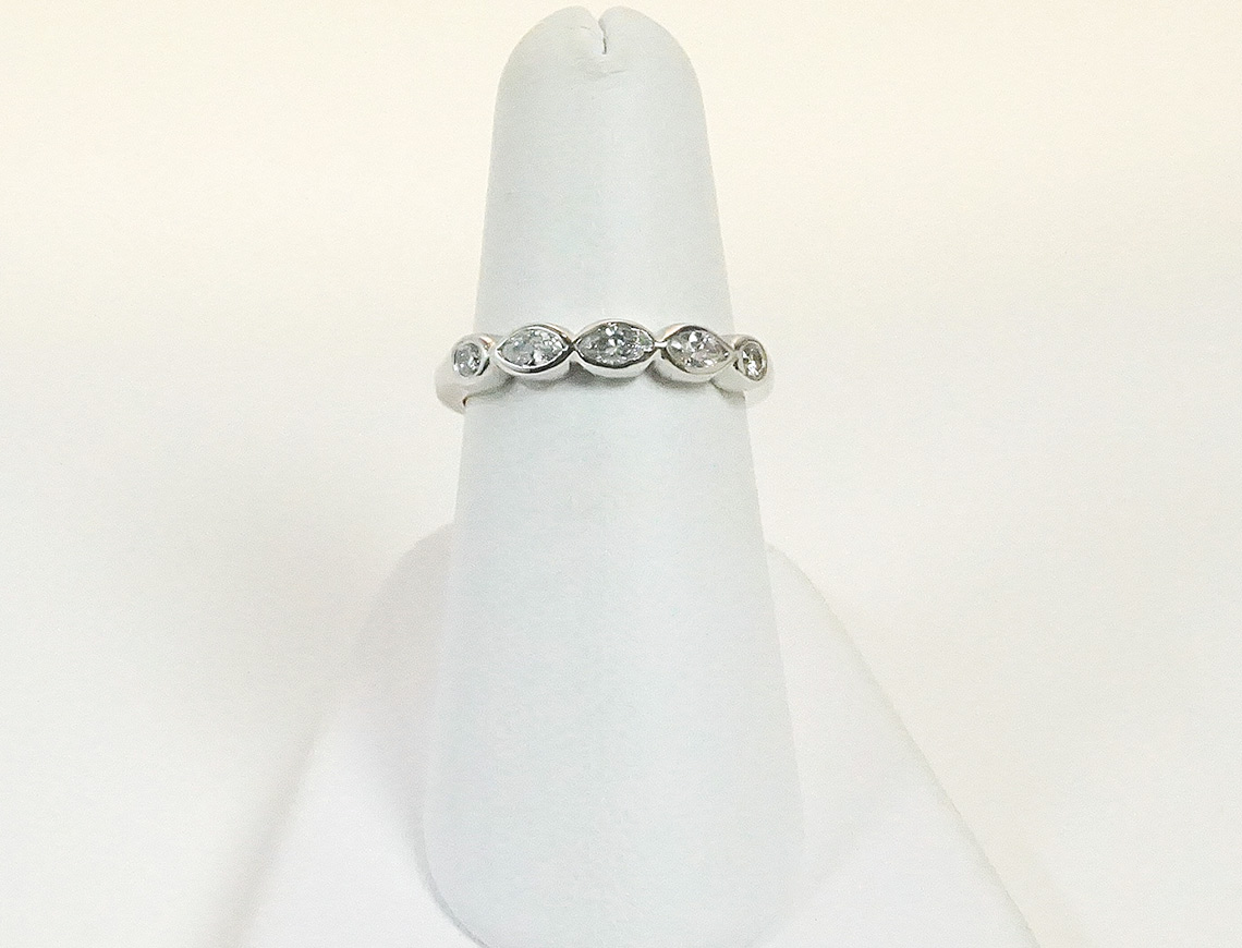 Custom-made platinum band