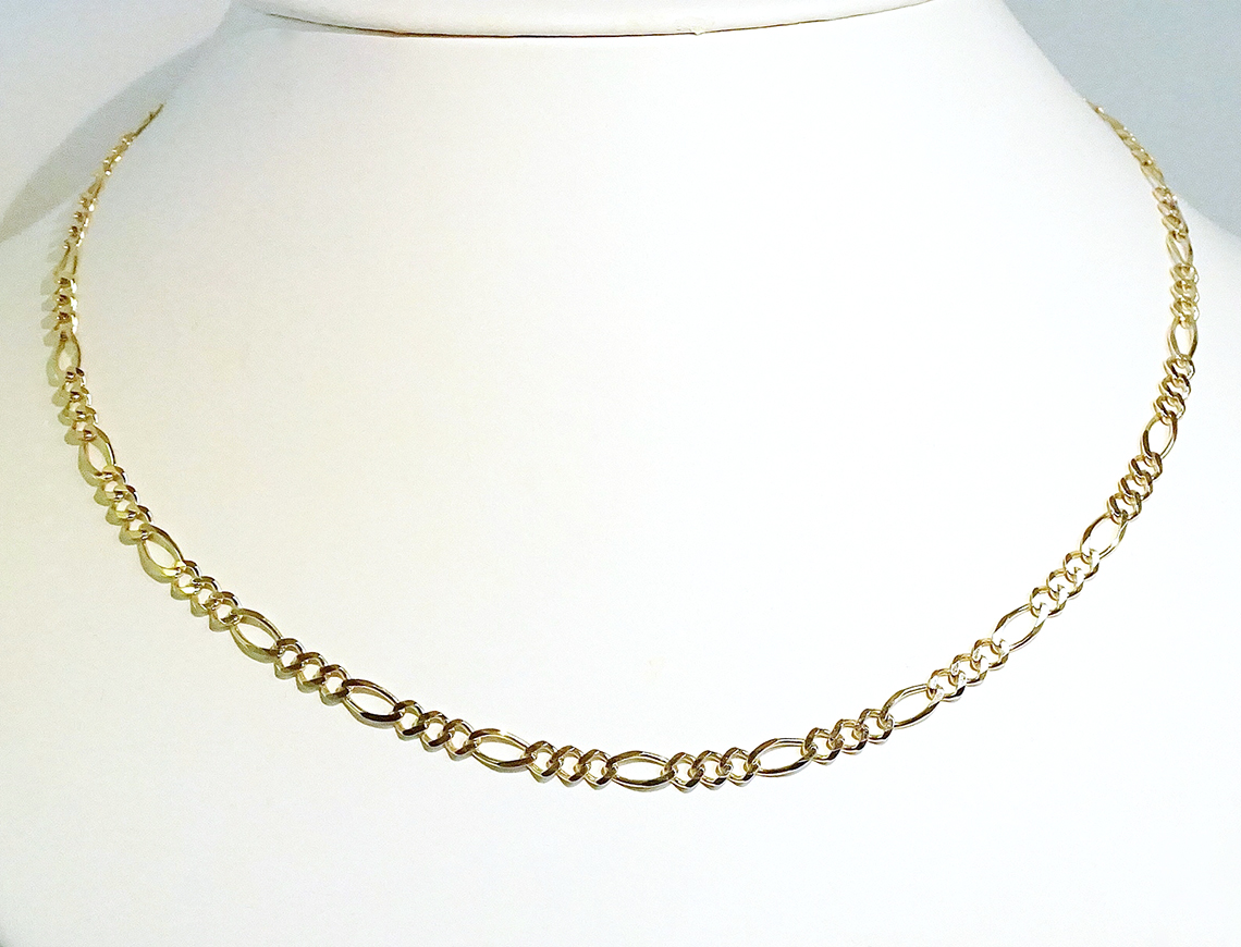 Polished Figaro link chain