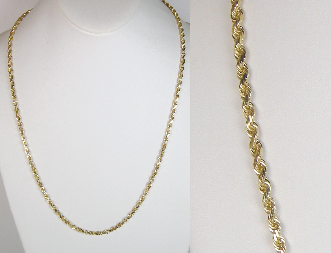 Solid French rope chain
