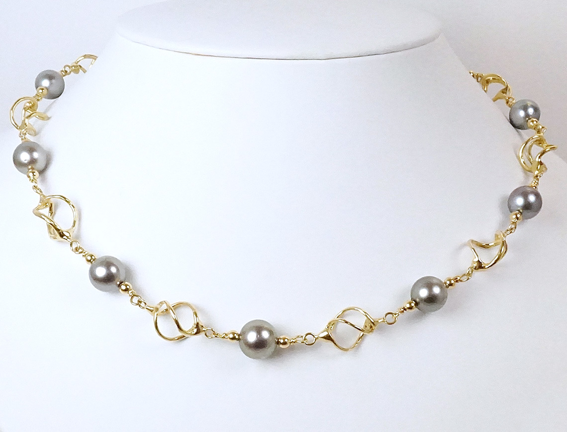 Custom Tahitian pearl necklace