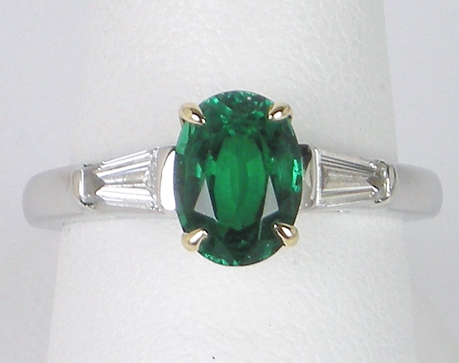 Emerald and diamonds by Tiffany