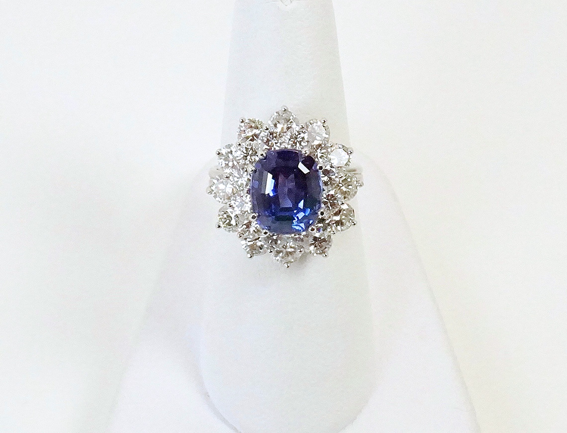 Tanzanite ring by Tiffany