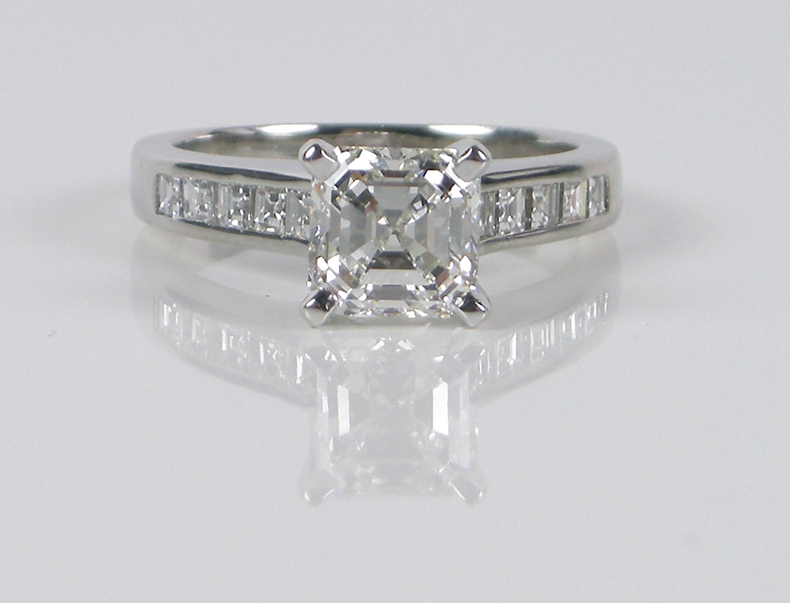 1.80 carat Asscher cut diamond