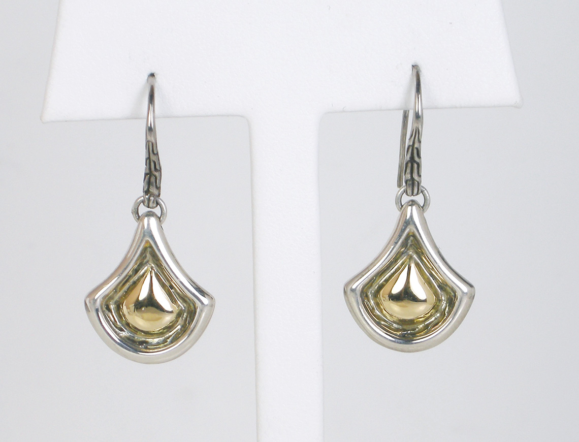 Silver and gold earrings by John Hardy