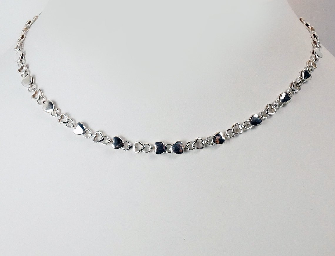 Sterling heart choker by Tiffany