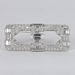 Platinum Art Deco Brooch