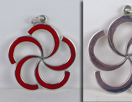 Custom Silver and Enamel Pendant