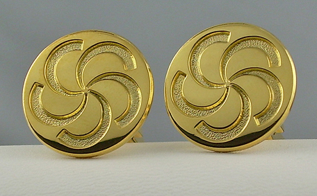 Custom Gold Cufflinks