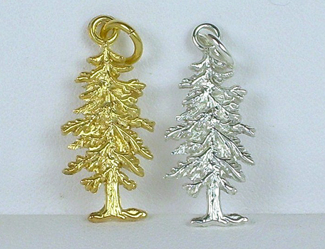 Custom Redwood Tree Charms